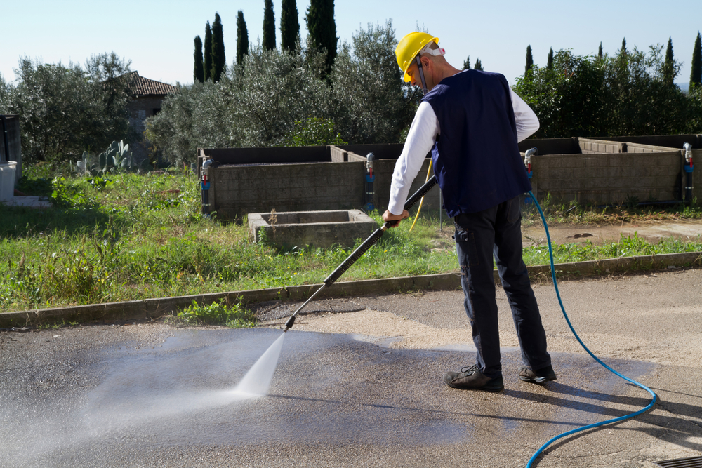 A power washer is designed to effectively remove stubborn dirt on most surfaces.