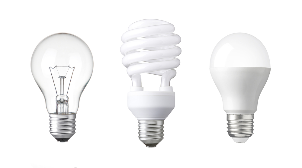 Every light bulb in the market has different watt ratings and this determines or varies the power dissipated for each light bulb.